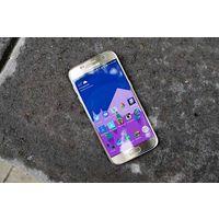 "Samsung Galaxy S7 32GB (G930F), Android, экран 5.1"" AMOLED (1440x2560), Exynos 8890, ОЗУ 4 ГБ, флэш-память 32 ГБ, карты памяти, камера 12 Мп, аккумулятор 3000 мАч, 2 SIM, цвет золото, очень хорошее со"