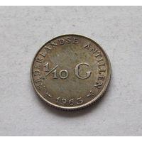 Нидерландские Антильские острова 1/10 гульдена 1963 - серебро