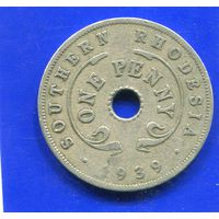 Южная Родезия. 1 пенни 1939.  Georg VI