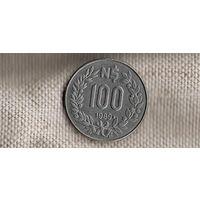 Уругвай 100 песо 1989//(Li)