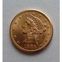 5 долларов, США, 1886, золото