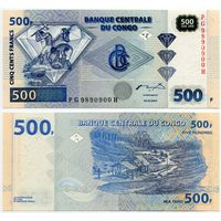 Конго. 500 франков (образца 2002 года, P96, UNC)