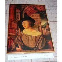 Репродукция картины эпохи Возрождения. 1518г. 46х32см Портрет молодого человека кисти Амброзиуса Гольбейна