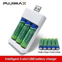 Зарядное устройство для 3 аккумуляторных батареек АА и или ААА