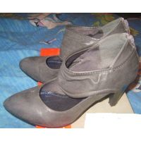 Туфли-ботильоны деми, р-р 40, фирма jennifer, кожа