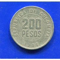 Колумбия 200 песо 1996