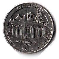 США. 1/4 доллара (1 квотер, 25 центов). 2016. Харперс Ферри. D