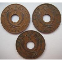 Британская Восточная Африка 5 центов 1942 г. Цена за 1 шт. (g)