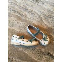 Детская натур обувь для девочки 26 р-р