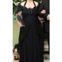 Платье в пол для пышных красавиц, р-р 52-54  (евро 44-46)