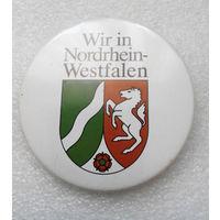 Северный Рейн-Вестфалия. Nordrhein-Westfalen. Германия. Герб #1314-CP22