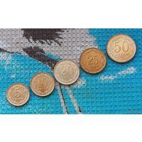 Таджикистан набор монет 5, 10, 20, 25, 50 дирам 2006 года, UNC