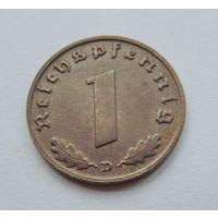 """Германия, 1 пфенниг 1939 год. Монетный двор """"D"""""""