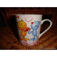 Чашка чайная Влюблённые коты