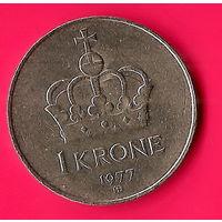 30-03 Норвегия, 1 крона 1977 г