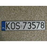 Автомобильный номер Польша KOS13334