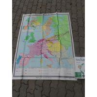 """Карта """"Европа с 1799-1815"""""""