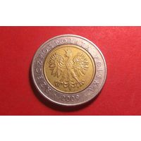 5 злотых 2009. Польша.