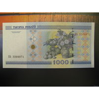 1000 рублей ( выпуск 2000 ), серия КА, UNC