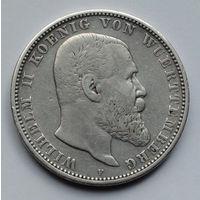 Германия - Германская империя. Вюртемберг 5 марок. 1908. F