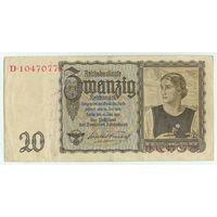 Германия, 20 марок 1939 год.
