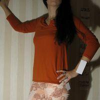 Майка с длинным рукавом (новая)  Цвет - кирпичный Состав - хлопок 60%, шелк 40%