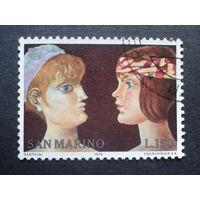 Сан-Марино 1975 год женщин, живопись