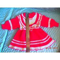 Платье,кофточка и ползунки вязаные детские.