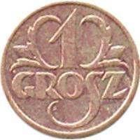 Польша 1 грош 1939г.