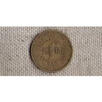 Испания 1 песета 1944/(Qu)
