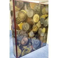 Альбом 230*270 мм с 4-х кольцевым механизмом+5 листов на 175 монет