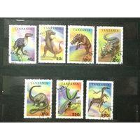 Танзания 1994. Фауна. Доисторические животные. Полная серия