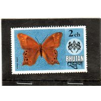 Бутан.  Mi:BT 607. Бамбуковый лесник (Lethe kansa). Серия: Бабочки. 1975.