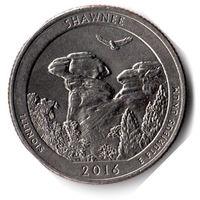 США. 1/4 доллара (1 квотер, 25 центов). 2016. Шони. D