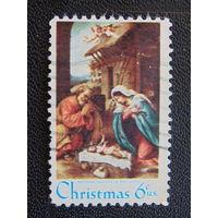 США 1970 г. Рождество.