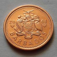 1 цент, Барбадос 2001 г., AU