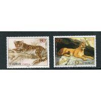 Китай. Фауна. Амурский леопард и пума