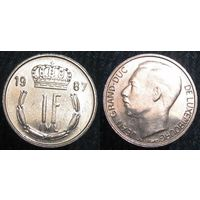 W: Люксембург 1 франк 1987 (572)