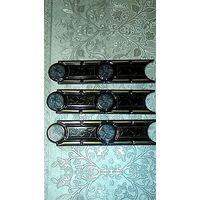 Фриз-плитка эксклюзивная,универсальная,черного цвета с позолотой,84 штуки,одним лотом.