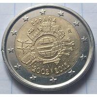 Испания 2 евро, 2012 10 лет евро наличными          ( 6-7-3 )