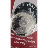 Friedrich Wilhelm III.- Taler. Серебро, копия