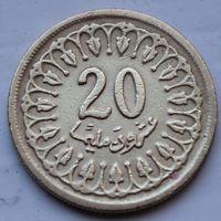 Тунис, 20 миллимов 1983 г