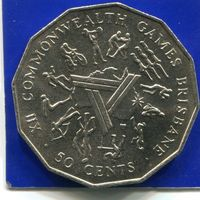 Австралия 50 центов 1982 , XII Игры Британского Содружества , VF