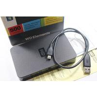Внешний накопитель WD Elements Portable 500 Гб (WDBAAR5000ABK)