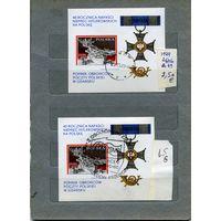 """ПОЛЬША. 2 почт блока в т.ч. сецгашение 1979  (на  """"СКАНЕ"""" справочно приведены номера и цены по Michel)"""