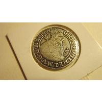 Монета орт 1622 года. Бранденбург (маркграфство в унии с Пруссией). Георг Вильгельм. Серебро.