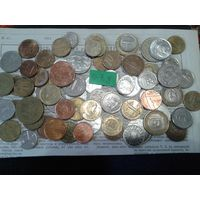 С рубля! 70 монет, весь Мир, но без СССР, УК и РФ (лот#7Y). Сегодня и завтра- новые аукционы!