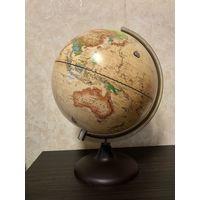 Глобус политический, полная высота с ножкой - 35 см, в отличном состоянии