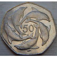 6. Гибралтар 50 пенсой 2003 год