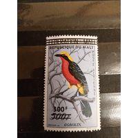1960 Мали фауна птица дополнительная надпечатка 300 фр чистая клей след от лёгкой наклейки дорогая (4-8)